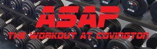 ASAP logo dumbell