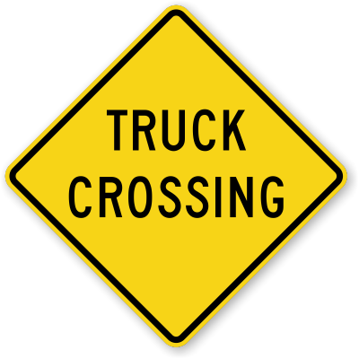 Truck-crossing-sign-x-w8-6